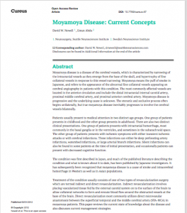 Moyamoya Disease: Current Concepts